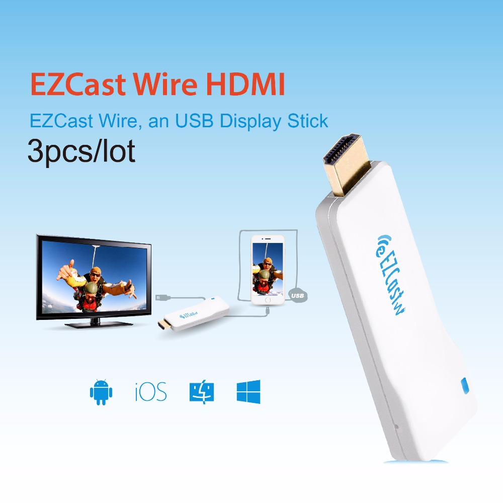 EZCast Wire HDMI USB Display TV Stick Support iOS iPad AirPlay Android Mac Windows Charging Dual Monitor HDMI Cable for Iphone(China (Mainland))