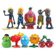 Buy 10 PCS/Lot Plants Vs Zombies 10 Toy 3-7cm Plastic PVZ Action Figure Anime Model Nendoroid Brinquedos Kids Toys Birthday Gift for $13.69 in AliExpress store