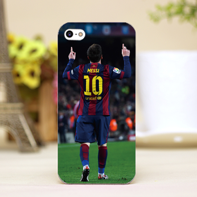 pz0018-2-41 messi Messi Design Customized cellphone transparent cover cases iphone 4 5 5c 5s 6 6plus Hard Shell - One spark shop store