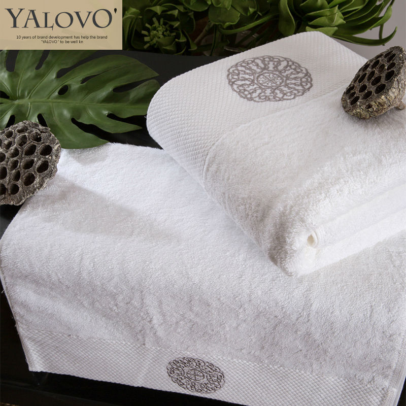 YALOVO Face Towel,100% Cotton 70*40CM,180G Five star16S Spiral Thickening Satin Embroidered  Face Towel,High Quality  G003(China (Mainland))