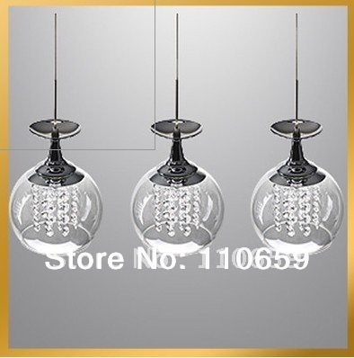 Pendant Lights 3 Light Modern Crystal Wineglass Wine Glass