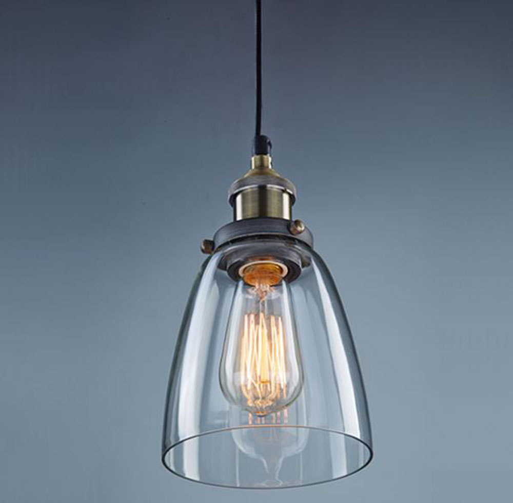AC100 240V 12.5*17cm Glass Lampshade Vintage Industrial