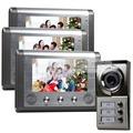DIYSECUR Waterproof New 7 inch Video Door Phone Doorbell Intercom Door Lock System Kit 1 Camera