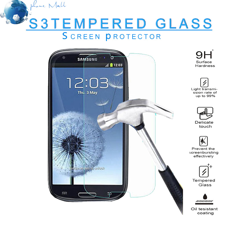 Premium 2.5D Tempered Glass Explosion Proof Screen Protector cover for Samsung Galaxy S3 i9300 i9305 i747 T999 Protective Film(China (Mainland))
