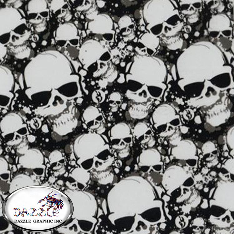 Free Shipping Size 0.5M*2M Skull With Glass Aqua Print From China No.DGJJ574 Hydrographic Film Inkjet Water Transfer Film(China (Mainland))