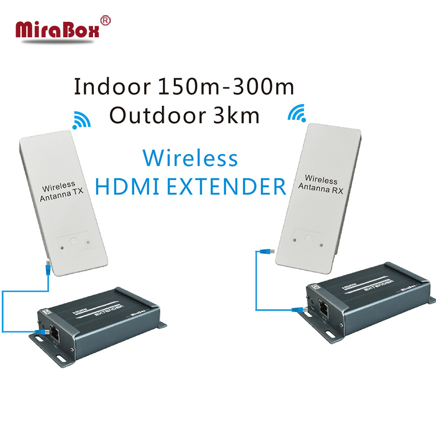 1080P Wireless HDMI Extender 5.8GHZ Support Max 3KM Outdoor HDCP Transmission Wireless Transmitter And Receiver HSV891W(China (Mainland))