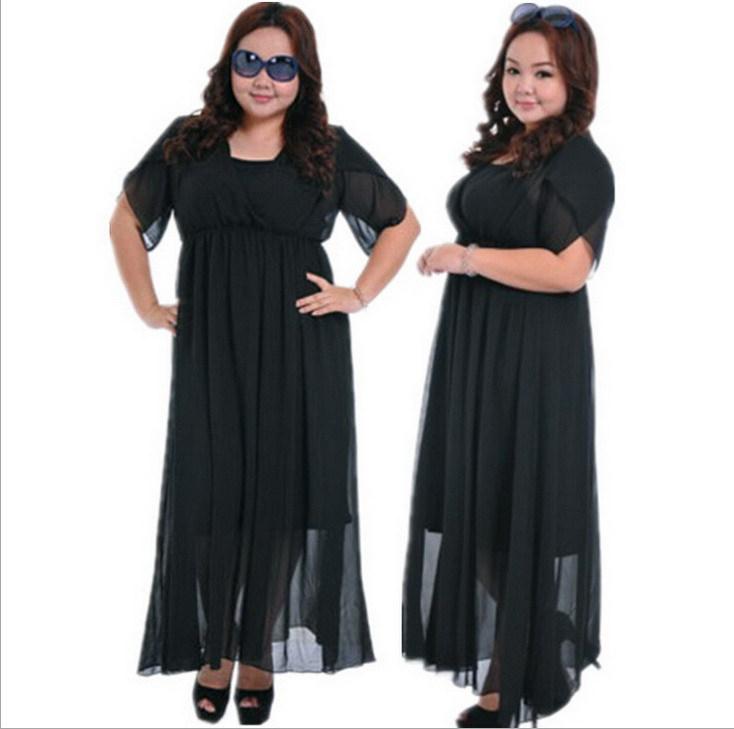 Sale Female Black Maxi Long Ankle Length Chiffon Summer 2 ...