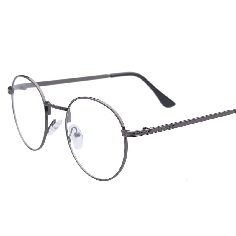 sara 2017 retro gold glasses frames men optical glasses prescription eyewear clear lens glasses oval metal frame eyeglass 007