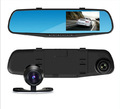CAR DVR Blue mirror mirror driving recorder dual lens HD night vision car backing image Car