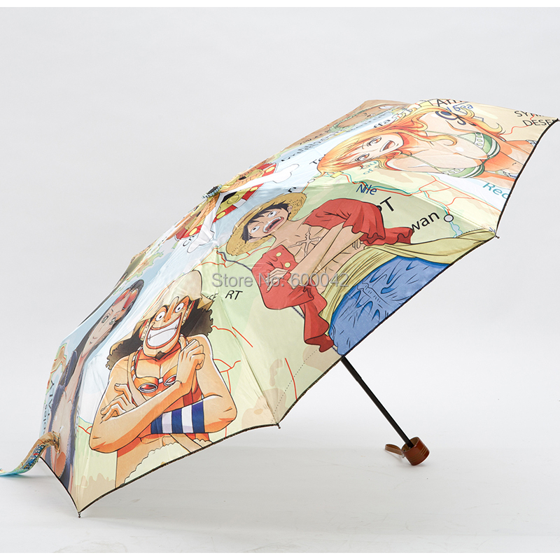 Hot selling cartoon design 3-folding manual open umbrella+free shipping(China (Mainland))