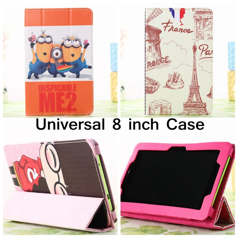Big Ben Despicable Pu Leather Case Stand Cover Universal 8.0 inch Tablet Cases Samsung Galaxy Tab 3 T310 T330 T311 - E-Fly Electronic co., LTD store