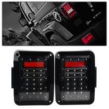 Pair LED Reverse Brake Tail Lights European & US Version Standard Plugs For 07-15 Jeep Wrangler JK Car Light(China (Mainland))