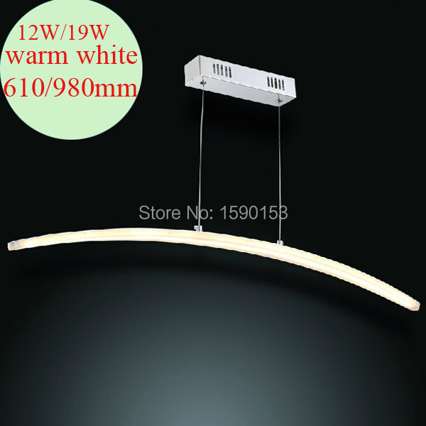 Led creative personality lights modern simple curved acrylic chandelier Art Coffee hall bar restaurant decoration lamp 12W(China (Mainland))