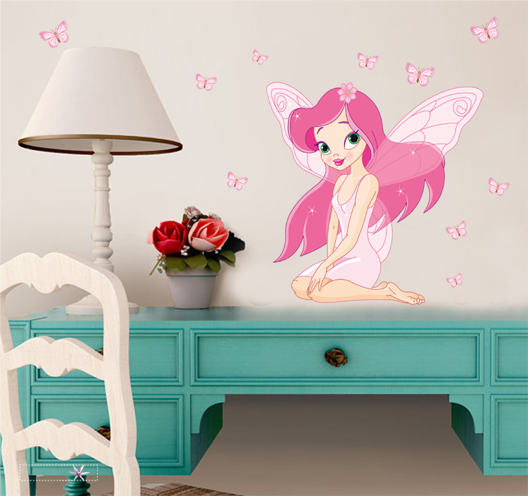 Buy Wall Stickers Fairy And Butterfly