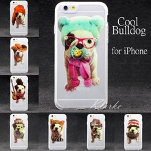 French Bulldog Pattern Soft Silicone Phone Case Cover for Iphone 6 6s Transparent Funny Cool Cute