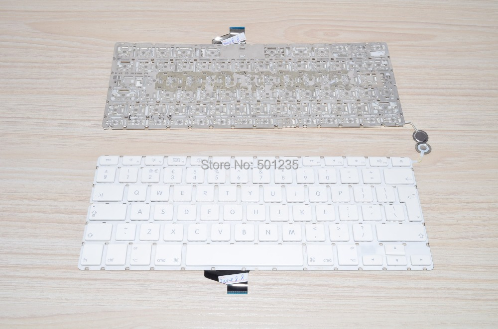 laptop keyboard UK layout Fit Apple Macbook A1342 RU Russian big enter backlight 100% tested 95% new - Xiamen Astonish Forest Electronic Company Limited store