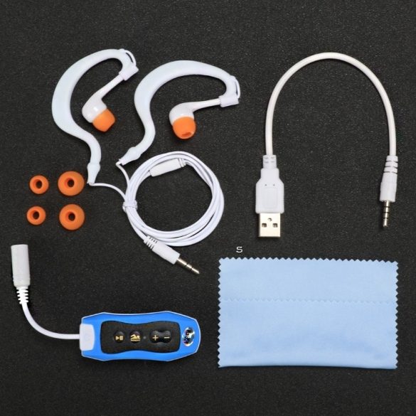 HOT SALES High Quality Hifi 4GB Swimming Diving Waterproof MP3 Player Sport Mini Clip MP3 Music Player With FM Radio Headphones(China (Mainland))
