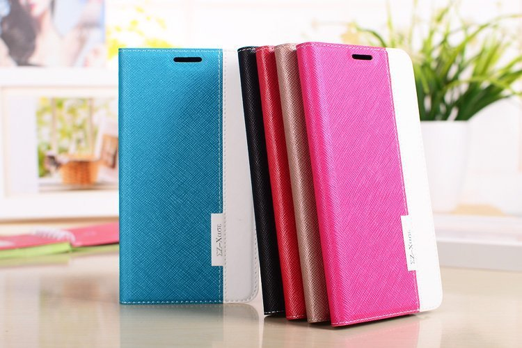 DS Hit Color Series High Quality PU Leather Mobile Phone Case For Samsung Galaxy Note 3 III N9000 Card Holder Holster Cover(China (Mainland))