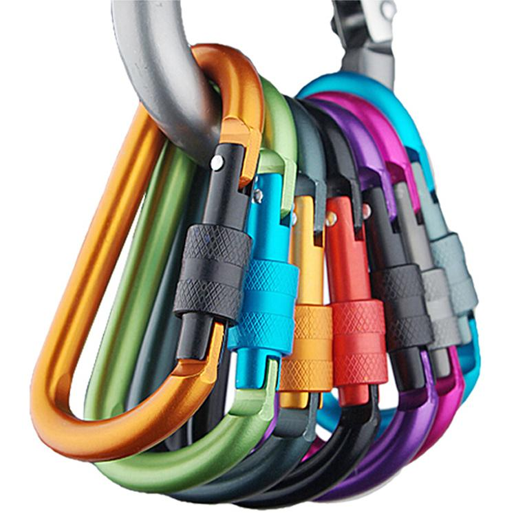 Outdoor Multi Colors Safety Buckle Climbing Carabiner For Keys Aluminium Alloy Camping Equipment Sobrevivencia Titanium Hook(China (Mainland))