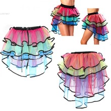 Buy Tutu Mini Skirt Sexy Tulle Ballet Belly Dance Clubwear Saia Faldas Organza Skirt Women Girl Casual Colorful Skirts 51 for $7.50 in AliExpress store
