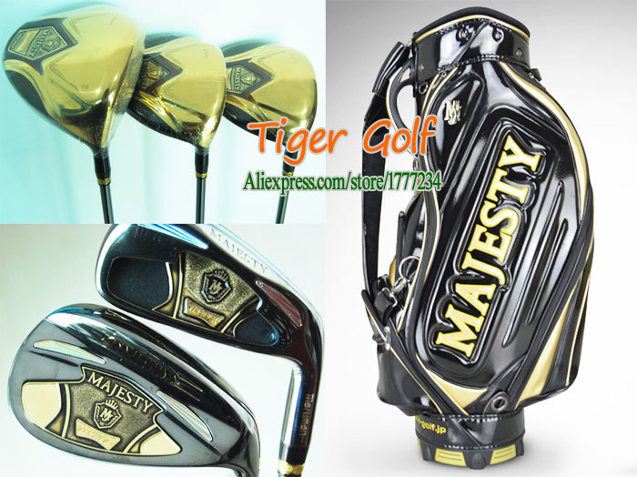 New Maruman MAJESTY Golf clubs Driver+Fairway wood+Putter+bag Graphite Golf shaft& headcover Complete set of clubs Free shipping(China (Mainland))