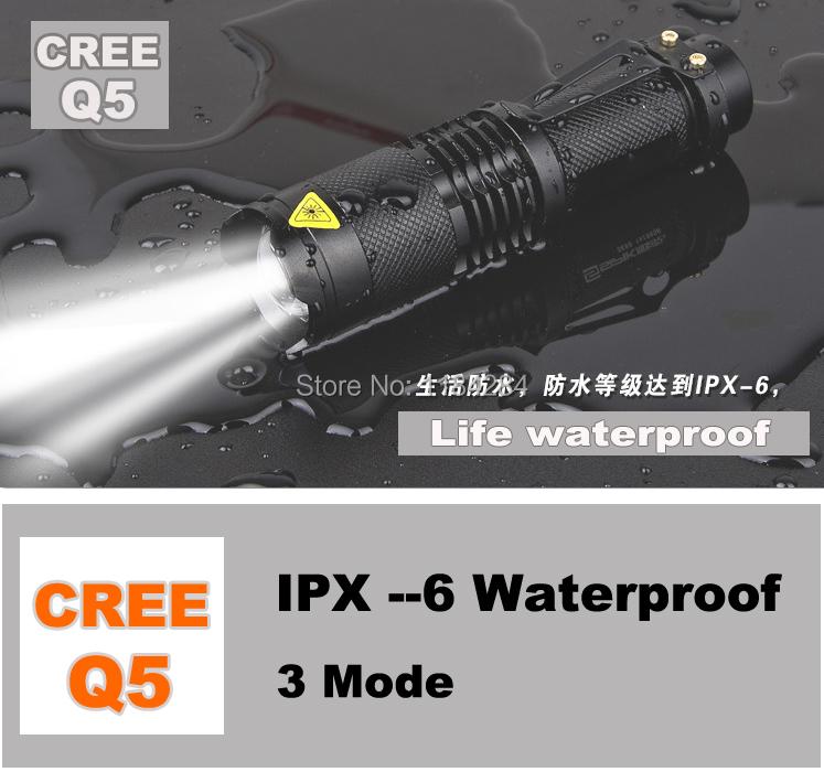 Mini Black Silver CREE 700LM LED Flashlight 3 Modes Adjustable Torch Light - Pomato Technology Co., Limited store