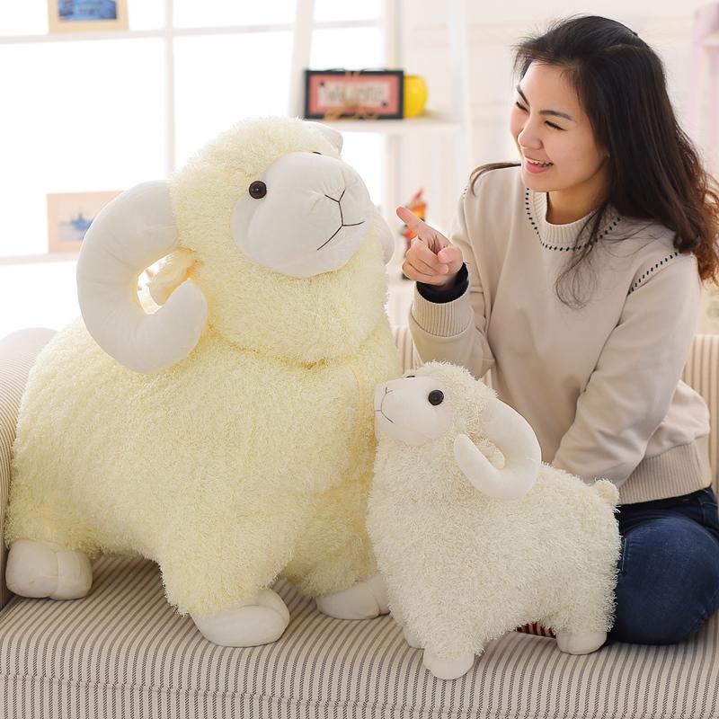 30/45cm Cute White Sheep Plush Toys jumbuck Cloth Doll white sheep plush doll birthday gift for Children baby doll kids gift(China (Mainland))