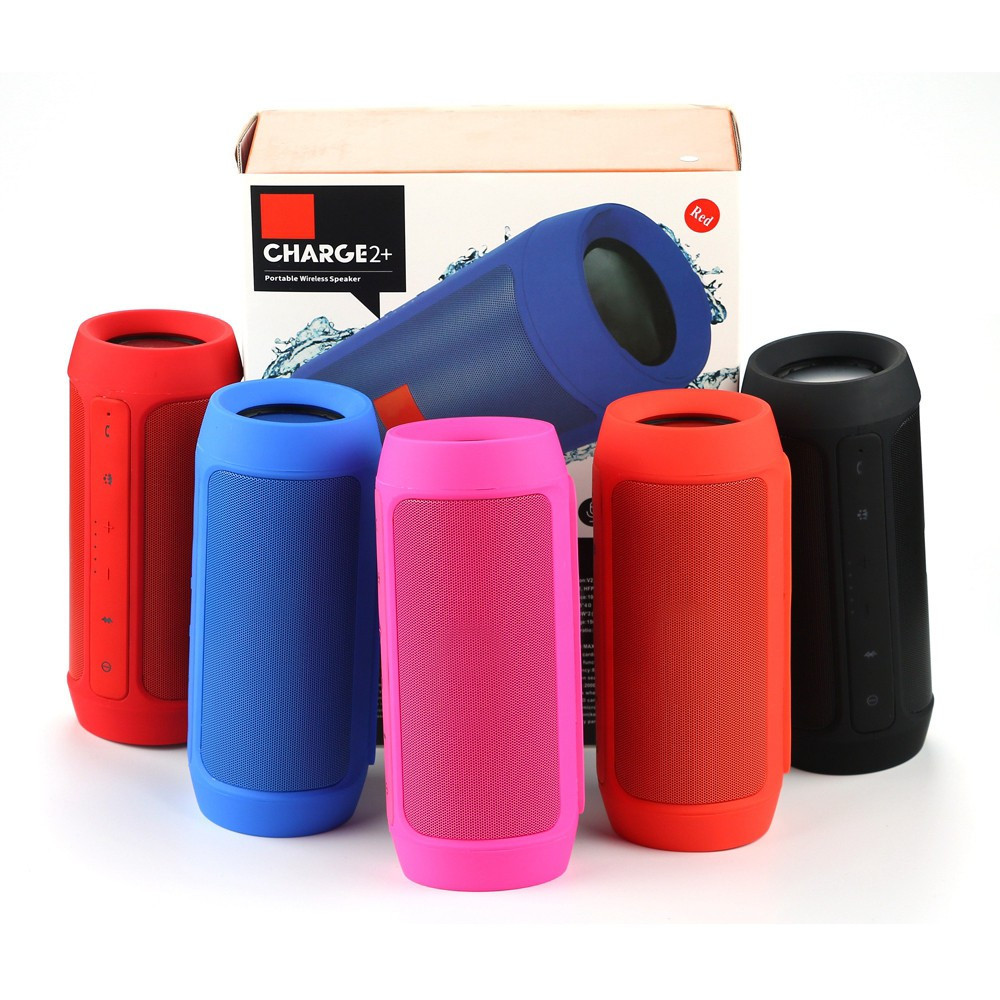 high quality CHARGE 2+ Bluetooth Speaker with logo Portable Wireless Stereo bluetooth Music shock wave Handsfree TF power bank
