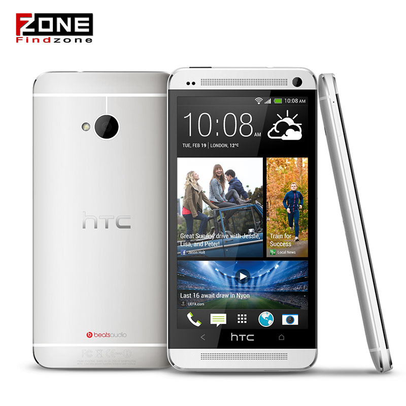 Hot Original HTC One M7 Android 4.4.2 sense 6.0 32GB Quad-core 1.7GHz 4.7''1920x1080 NFC, Refurbished phone
