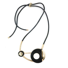 Buy collier leather chain Jewelry maxi resin necklace 2016 design fashion ZA statement necklacefor women acrylic geometric necklaces for $8.70 in AliExpress store