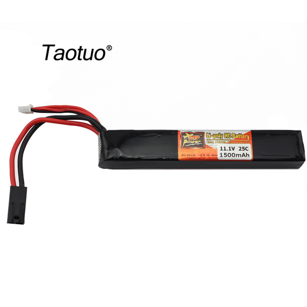 Taotuo Power Lithium Polymer LiPo Battery 11.1V 1500Mah 3S 25C For RC Helicopter Airplane Quadcopter Drone Toy Parts Bateria(China (Mainland))