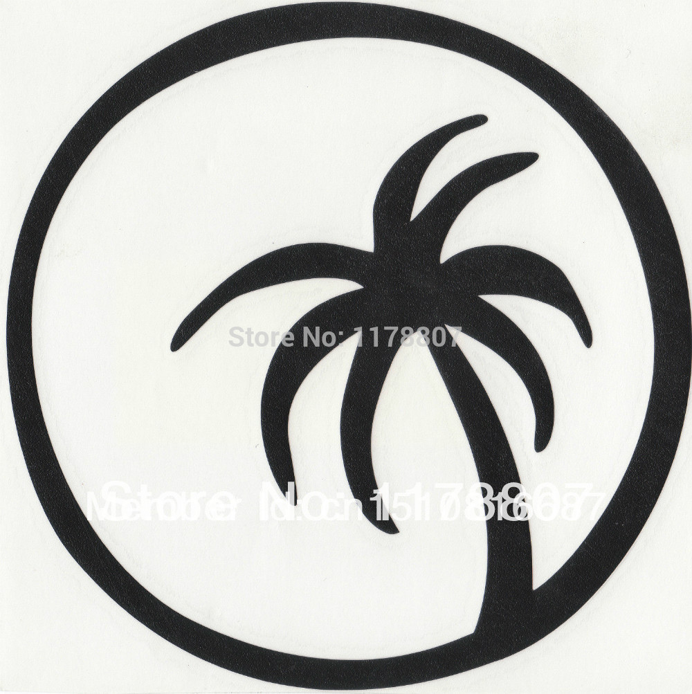 Palm Tree in the Moon For Car Rear Windshield Truck SUV Bumper Auto Door Laptop Kayak Canoe Wall Die Cut Vinyl Decal 8 Colors(China (Mainland))