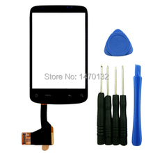 Outer Front Touch Screen Digitizer Glass Panel Replacement Without IC for HTC Wildfire A3333 G8 with tools