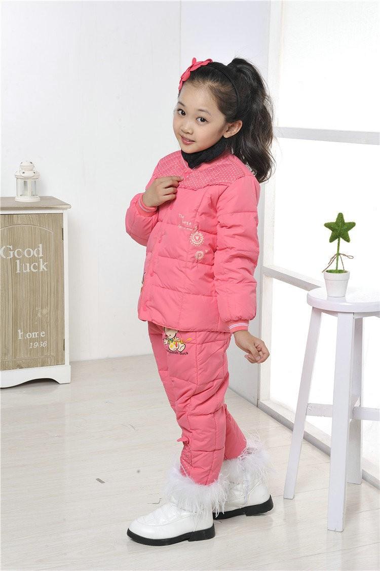 новые маленькие девочки snowsuit утка в пальто куртка + брюки куртка чистый цвет круглый воротник корейские девушки зимнее пальто xy734