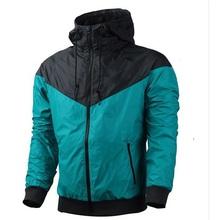 Free shipping 2015 NK windrunner Men sportswear High Quality waterproof Men sports jacket. Fashion zipper hoodie coats(China (Mainland))