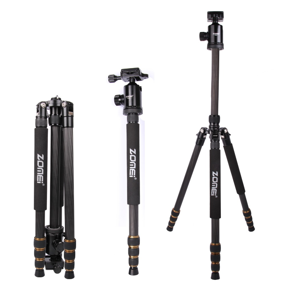 ZOMEI Z688C Professional Carbon Fiber Tripod Outdoor Stand Holder for DSLR Camera<br><br>Aliexpress