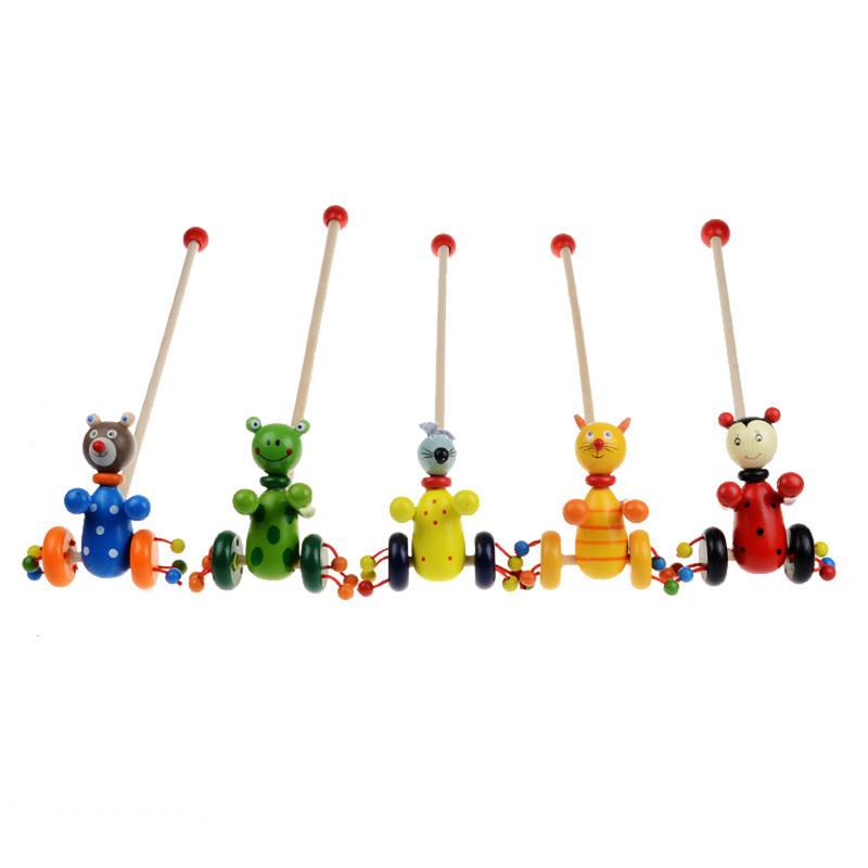 Cartoon Baby Coagent Toddler Child Putting Animals Wooden Puzzle TrolleyToy<br><br>Aliexpress