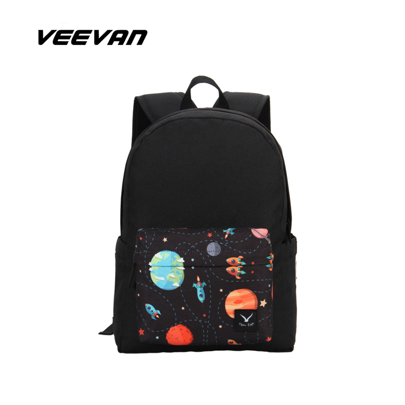 VEEVAN Print Canvas Bag Brand Women School Backpacks Vintage Shoulder Bag Fashion Laptop Backpack Girls Nylon Sport Travel Bags(China (Mainland))