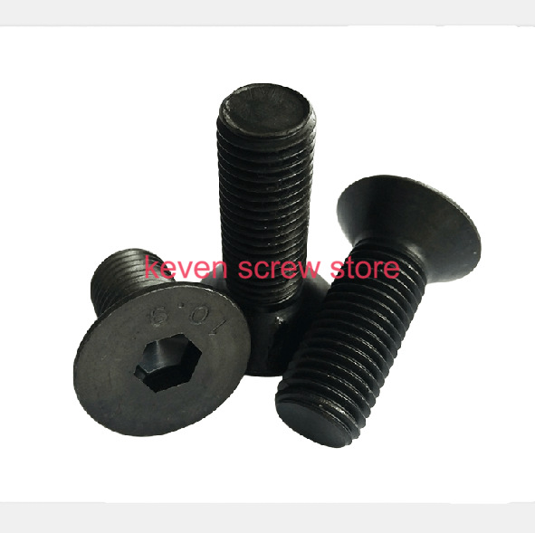 Free Shipping 30pcs M6x45 mm M6*45 mm flat head countersunk head black grade 10.9 Alloy Steel Hex Socket Head Cap Screw<br><br>Aliexpress