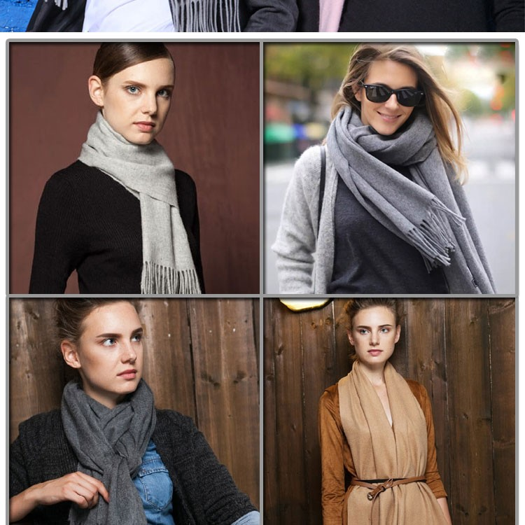 2016 new styles high quality man and women scarves female pure color coffee cashmere scarves  shawl winter scarf luxury brand