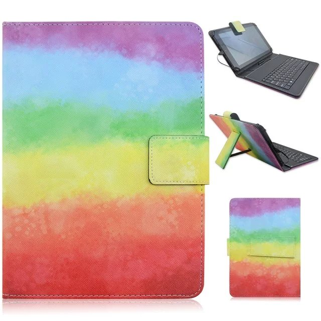 "7"" keyboard Universal PU Fashion Printed Flip leather case For Alcatel Onetouch Pixi 7/Alcatel Onetouch Pop 7 Tablet Bag cover(China (Mainland))"