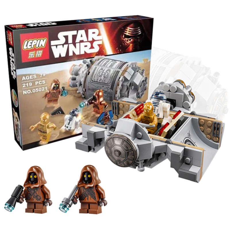 LEPIN 05021 Star Wars Droid Escape Pod Minifigure Building Blocks Set Bricks Toys The Force Awakens Compatible With 75136 Xmas(China (Mainland))