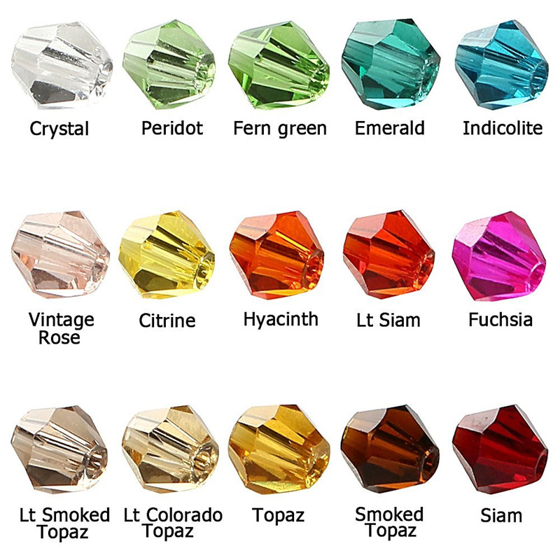 Czech Seed Bead 115 LOT 4mm Colorful Crystal Bicone Beads Pick Color DIY Jewelry Faceted Glass