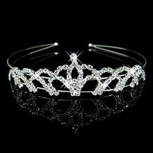 Joyme New Silver Crystal Rhinestone Pearls Hairbands For Women Bridal Wedding Hair Accessories Tiara Headbands Crown Hairwear(China (Mainland))