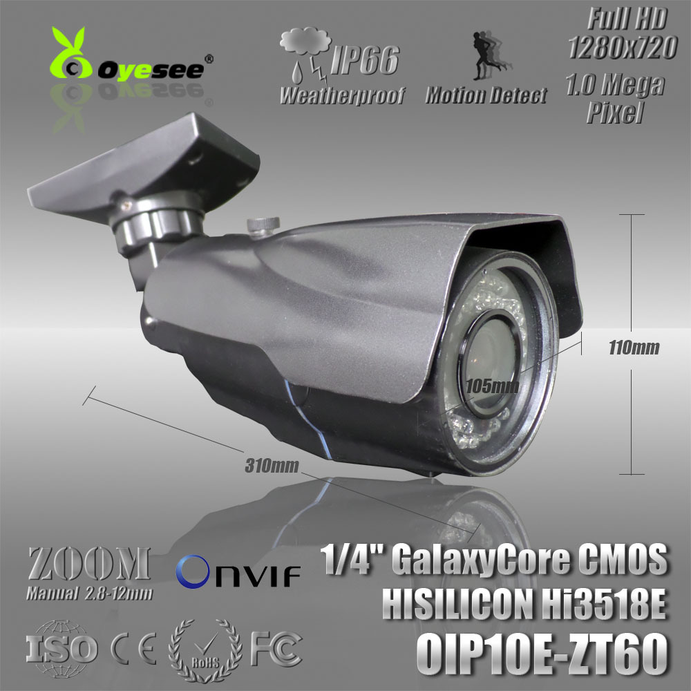 720P Manual Zoom Lens outdoor camera onvif free shipping support ip camera tool download(China (Mainland))