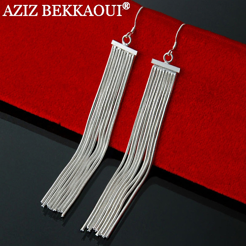 Super Sale 1Piece Vintage Tassel Long Dangle Earrings Star Heart Drop Women Fashion Jewely - AZIZ BEKKAOUI Offical Store store