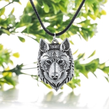 Buy 1pcs Wolf Head Necklace Pendant Animal Power Norse Viking Amulet Necklaces Pendants Men Women Gift Jewelry Antique Silver for $3.49 in AliExpress store
