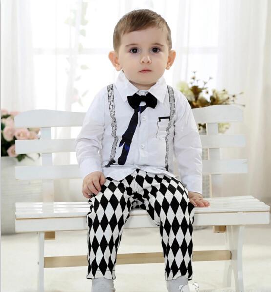 Boy dance set baby Tuxedo boy wedding set child clothes boy party costume shirt trousers free shipping 01(China (Mainland))