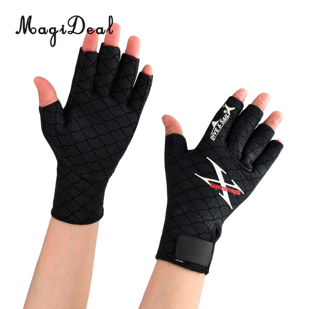 MagiDeal Soft Water Sports Scuba Diving Snorkeling Surfing Wetsuit Fingerless Gloves S/M/L for Kayaking Rafting Boat Canoe Acce