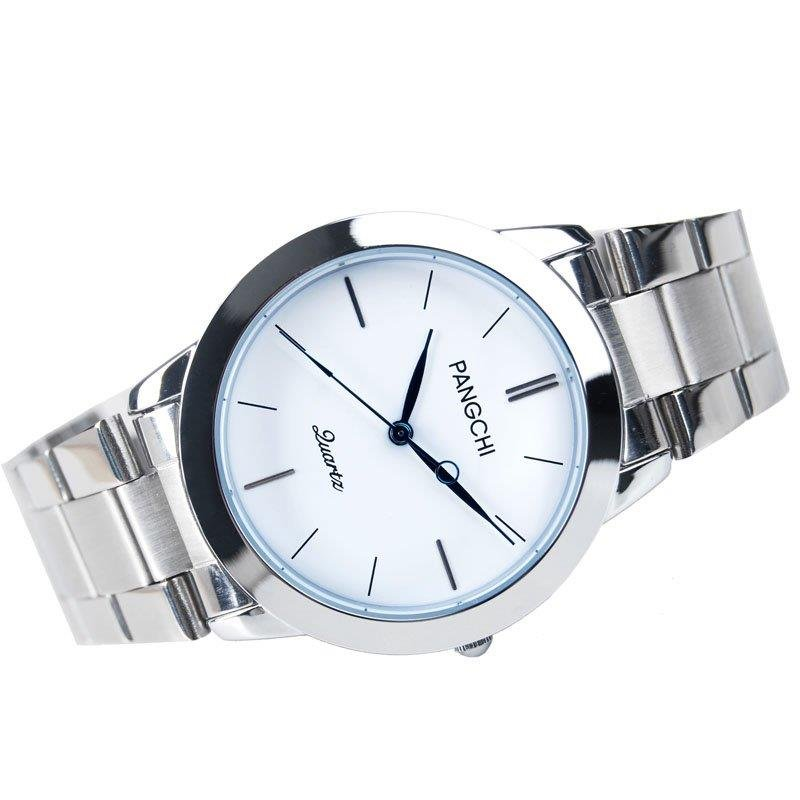 Korean couple watch one pair free shipping Korean fashion lovers watch stainless steel girl watches fashion